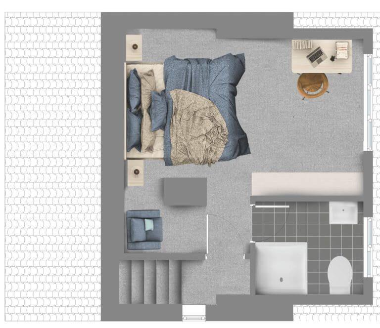 Une chambre principale ajoutée par une extension de loft / conversion de loft en lucarne